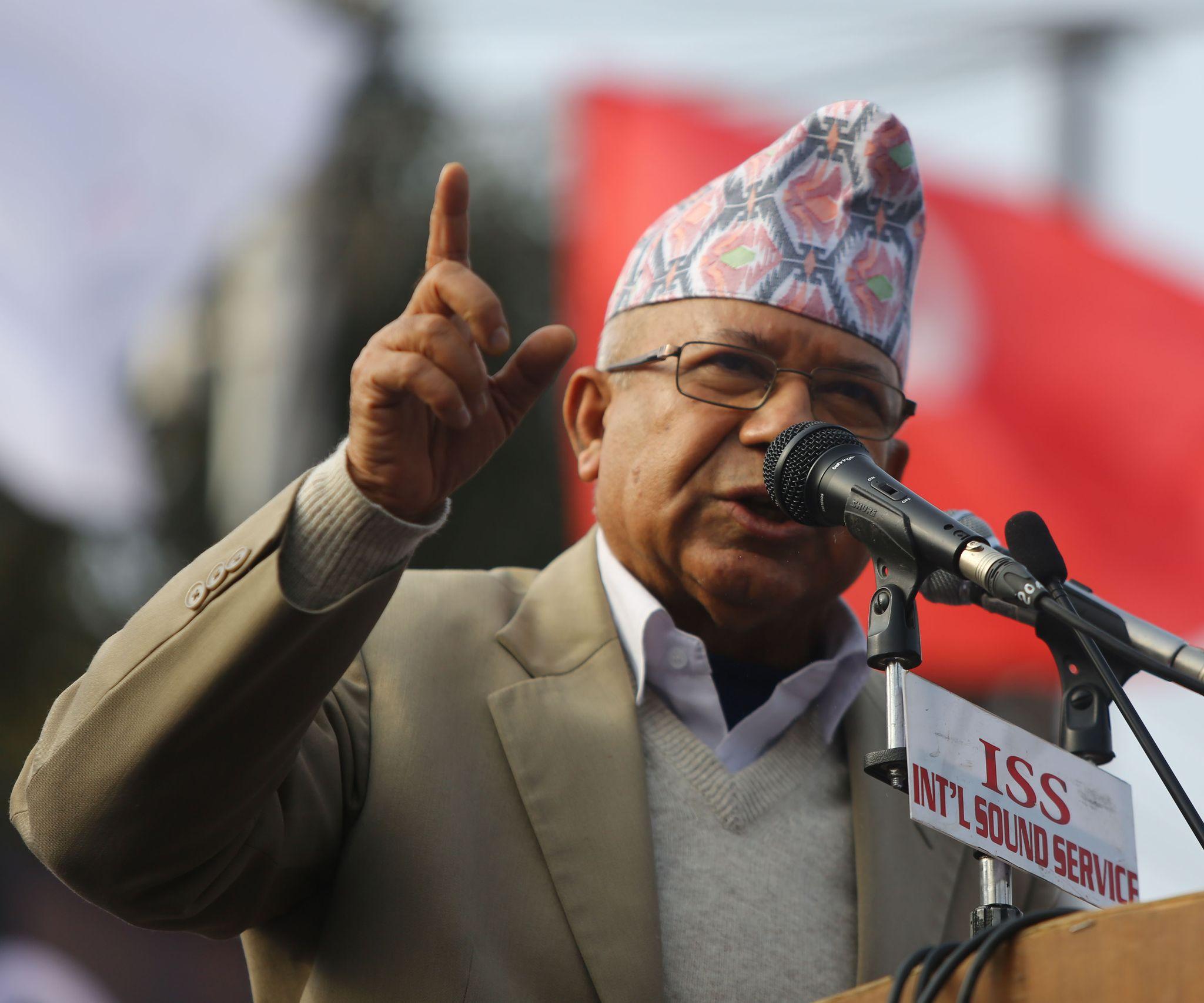 नेकपा (प्रचण्ड-नेपाल समूहका) अध्यक्ष माधव नेपाल